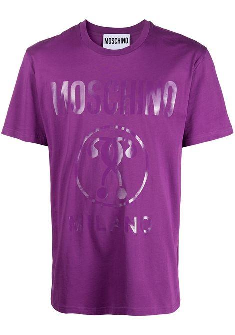 Moschino t-shirt con logo uomo viola MOSCHINO | T-shirt | A07062040262