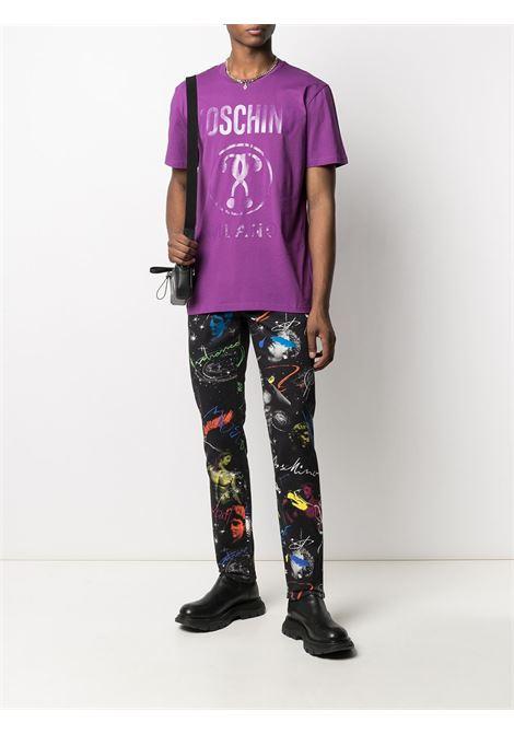 T-shirt con logo Uomo MOSCHINO | A07062040262