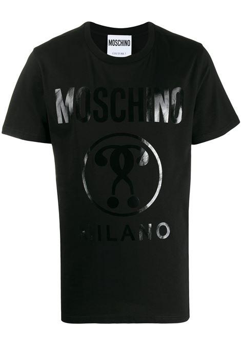Moschino t-shirt con logo uomo nero MOSCHINO | T-shirt | A07062040555