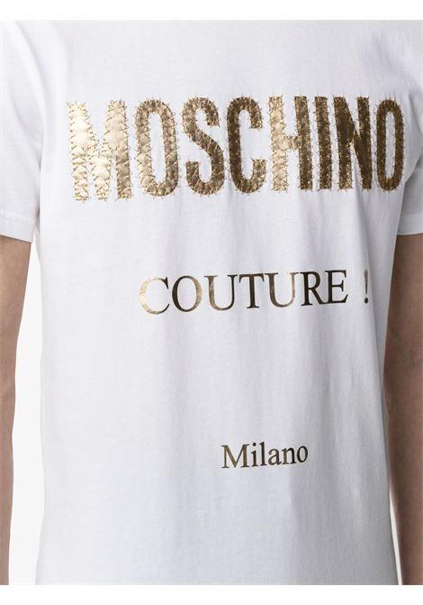 T-shirt con stampa Uomo MOSCHINO | A07712401001
