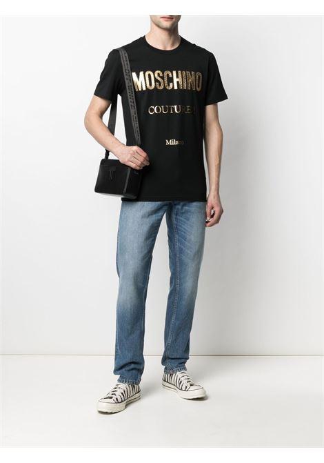 T-shirt con stampa Uomo MOSCHINO | A07712401555