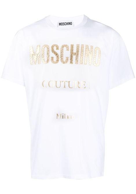 Moschino t-shirt con logo uomo fantasia bianco MOSCHINO | T-shirt | A07722401001