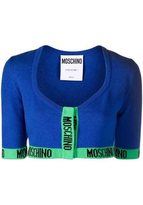 Logo trim cardigan MOSCHINO | Sweaters | A09195042296