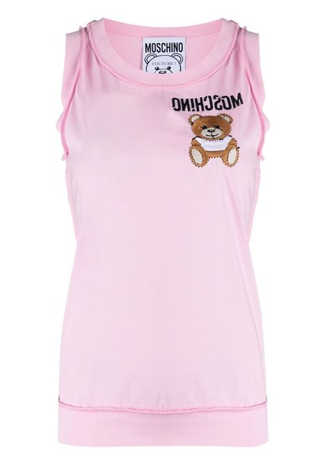 Moschino logo sleeveless top women fantasia rosa MOSCHINO | Top | A12014401222