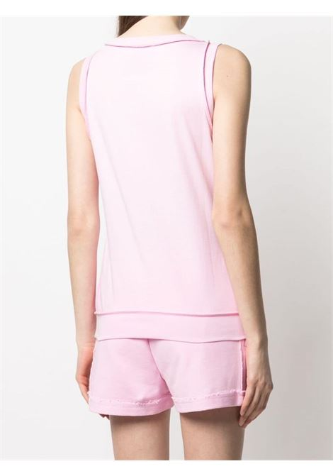 Moschino logo sleeveless top women fantasia rosa MOSCHINO | A12014401222