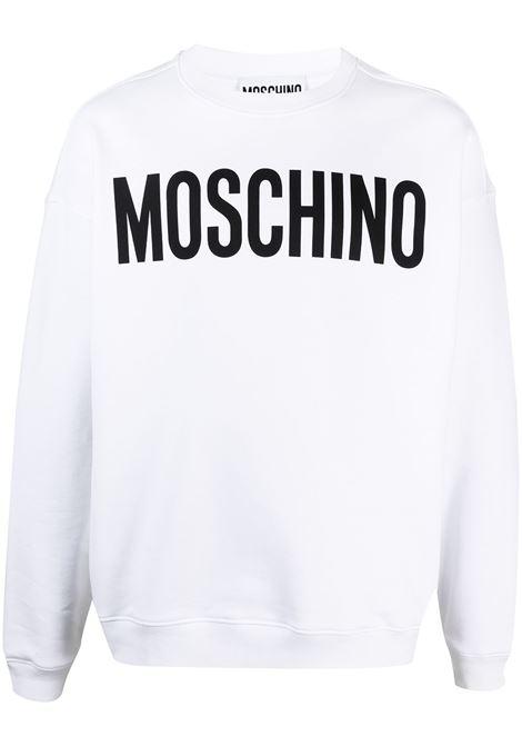 Moschino felpa con logo uomo fantasia bianco MOSCHINO | Felpe | A171820271001