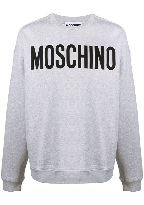 Moschino felpa con logo uomo fantasia grigio MOSCHINO | Felpe | A171820271485