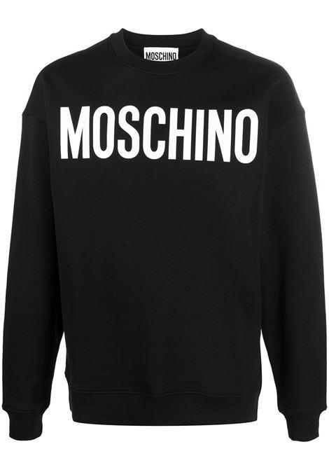 Moschino felpa con logo uomo fantasia nero MOSCHINO | Felpe | A171820271555