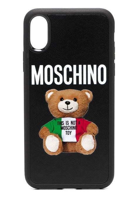 Moschino cover per iphone teddy bear unisex fantasia nero MOSCHINO | Cover | A794483011555