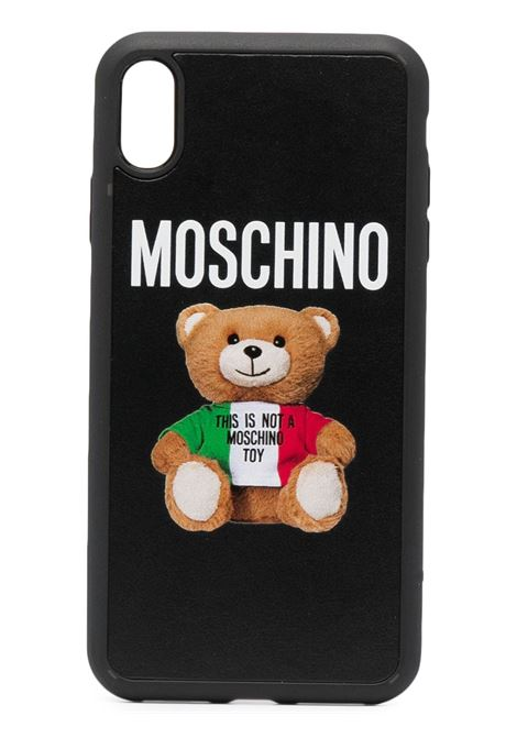 Teddy print iPhone XS Max case MOSCHINO | A794583011555