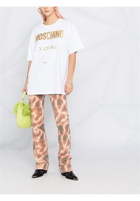 T-shirt oversize con logo Donna MOSCHINO | J07134401001
