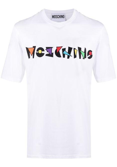 Moschino t-shirt con logo uomo fantasia bianco MOSCHINO | T-shirt | J071620401001