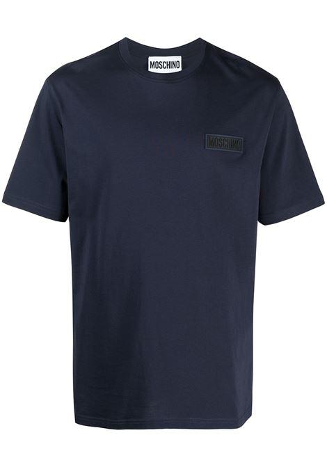 Moschino t-shirt con logo uomo blu MOSCHINO | T-shirt | J07272040290
