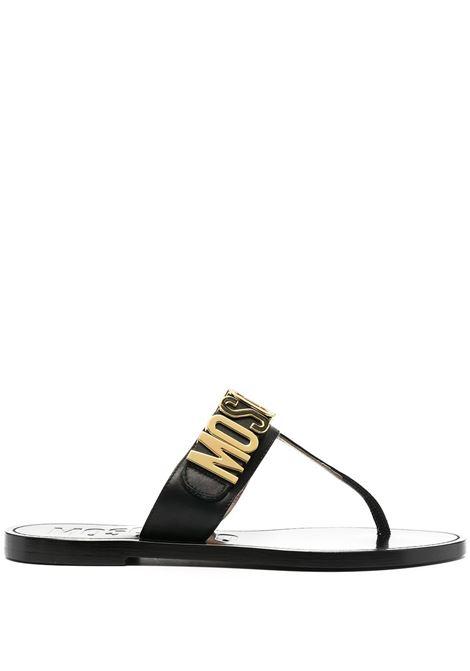 Logo plaque sandals MOSCHINO | Sandals | MA28051C0CMF0000