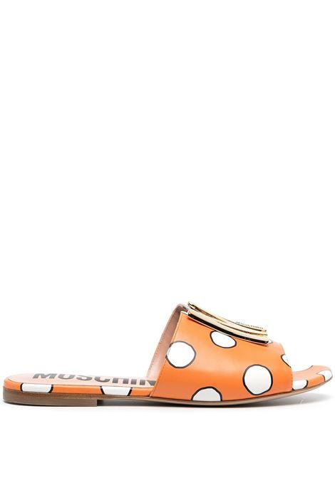 logo-plaque sandals MOSCHINO | Slides | MA28101C1CMM045A