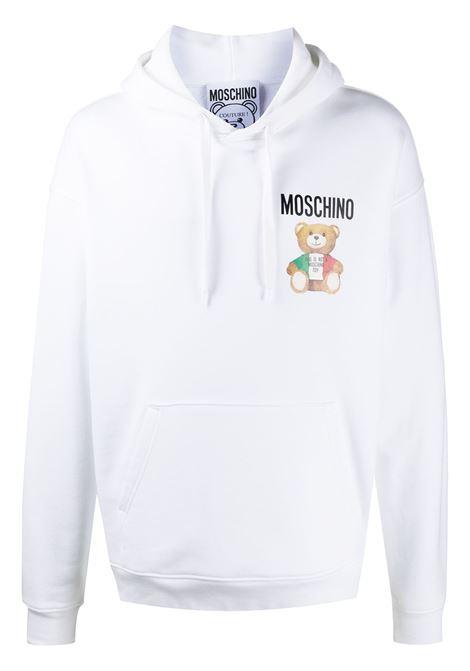 Moschino felpa con logo uomo fantasia bianco MOSCHINO | Felpe | V173420271001