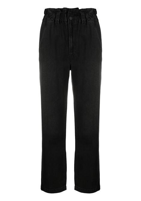 Mother jeans con vita raccolta donna blackout MOTHER | Jeans | 10206905BKO