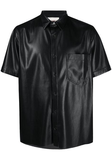 Nanushka camicia con taschino uomo black NANUSHKA | Camicie | ADAMBLK