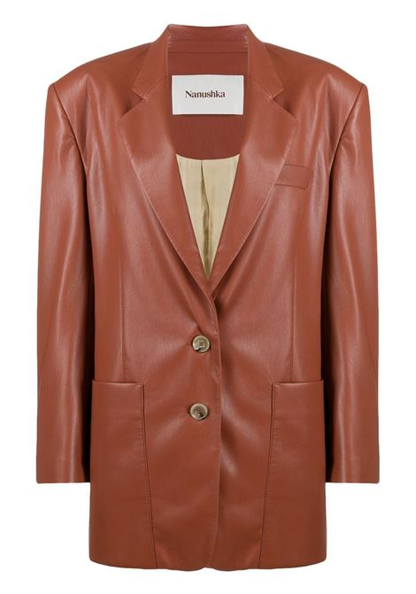Evan leather jacket  NANUSHKA | Blazers | EVANBRCK