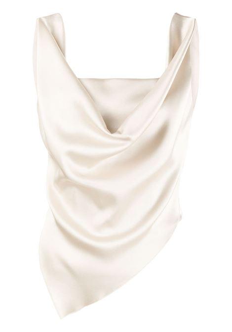 Nanushka top drappeggiato donna silver taupe NANUSHKA | Top | PETRASLVRTP