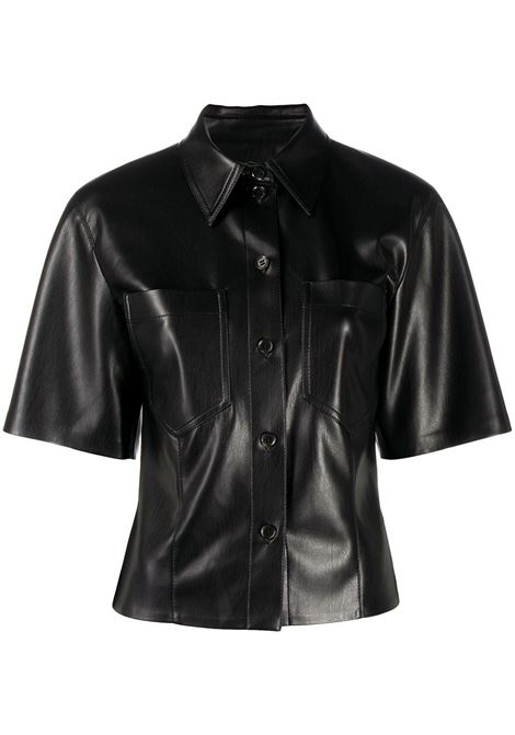 Faux-leather shirt NANUSHKA | Shirts | SABINEBLK