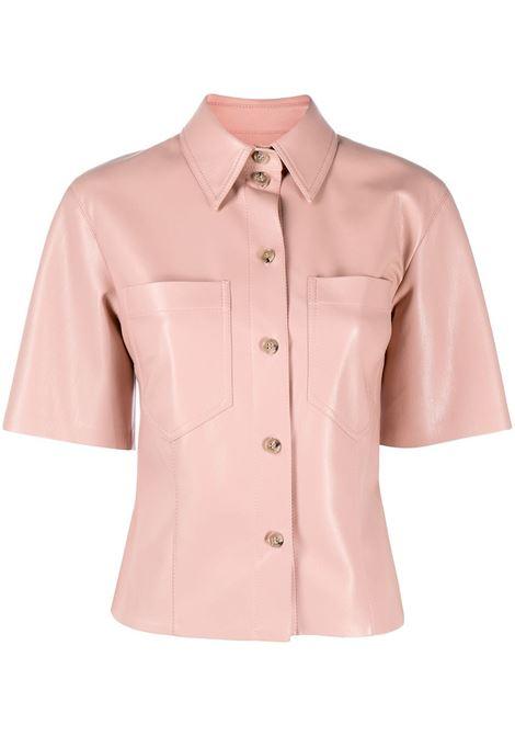 Nanushka camicia a maniche corte donna pink NANUSHKA | Camicie | SABINEPNK