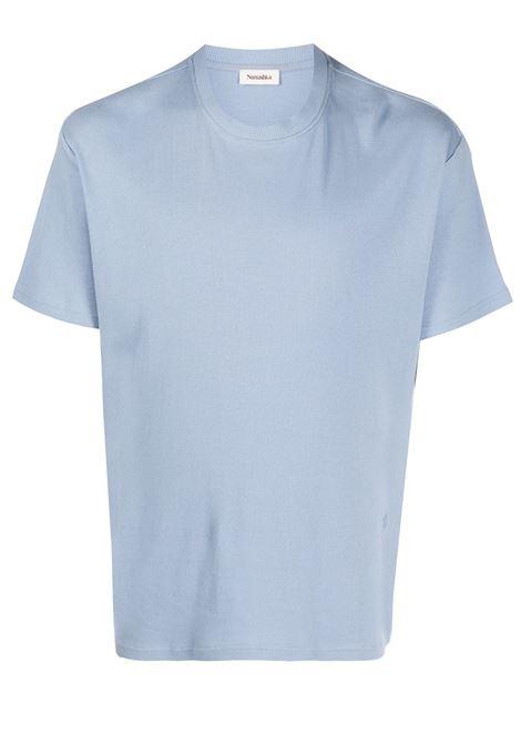 Nanushka t-shirt a girocollo uomo dusty blue NANUSHKA | T-shirt | TARANDSTYBL