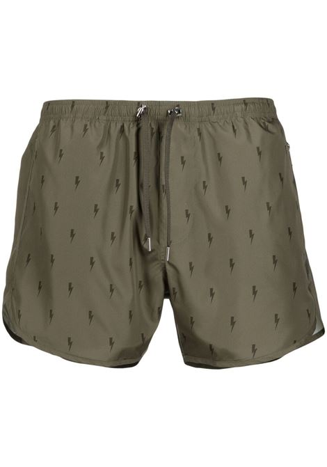 Thunderbolt swim shorts  NEIL BARRETT | Swimwear | PBCB129NQ023S3164