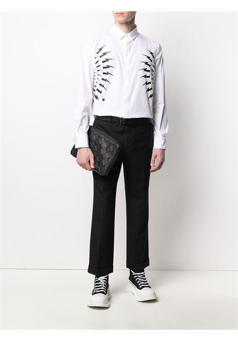 Thunderbolt-print shirt NEIL BARRETT | PBCM1460CQ014S526