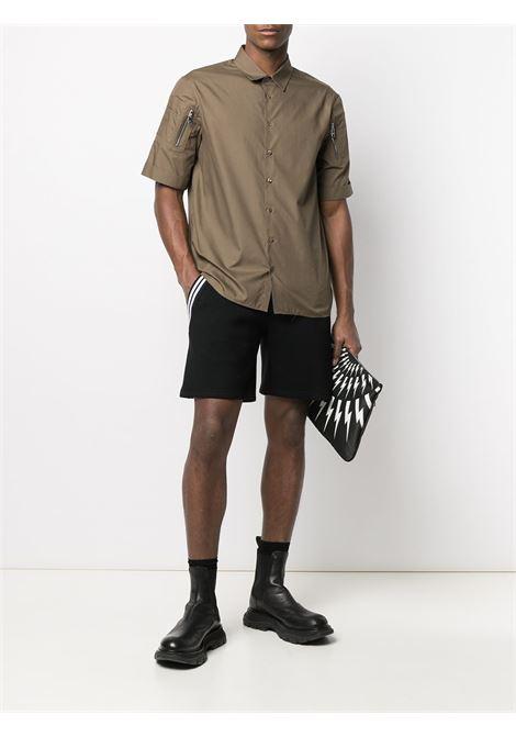 Sleeve-patches shirt NEIL BARRETT | PBCM1461SQ006S3098