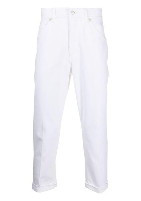 Neil Barrett pantaloni crop uomo white NEIL BARRETT | Jeans | PBDE319HQ80003
