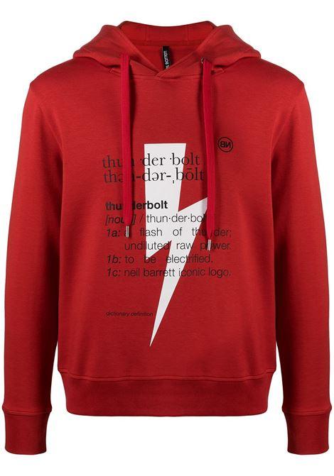Thunderbolt hoodie NEIL BARRETT | Sweatshirts | PBJS722SQ513S1110