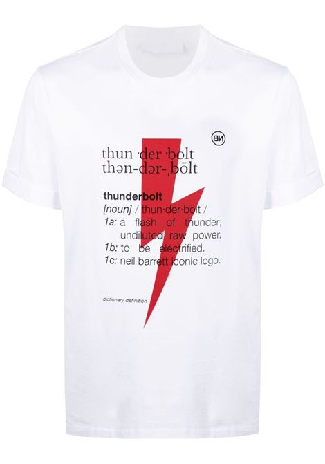 Thunderbolt T-shirt NEIL BARRETT | T-shirt | PBJT897SQ514S1116