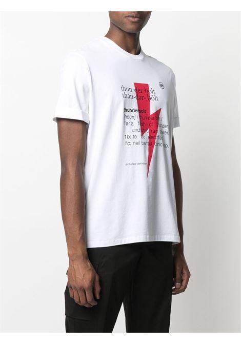 T-shirt con stampa Thunderbolt Uomo NEIL BARRETT | PBJT897SQ514S1116