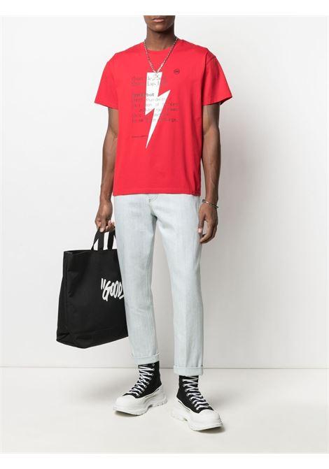 T-shirt Thunderbolt Uomo NEIL BARRETT | PBJT898SQ514S1134