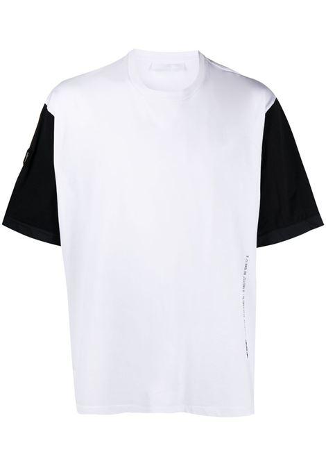 Neil Barrett t-shirt con maniche a contrasto uomo white black silver NEIL BARRETT | T-shirt | PBJT902BQ506C1977