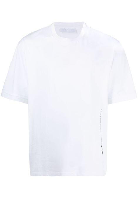 Neil barrett t-shirt con stampa uomo white silver NEIL BARRETT | T-shirt | PBJT902BQ506C538
