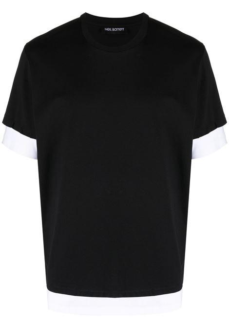 Two-tone T-shirt NEIL BARRETT | T-shirt | PBJT907Q518S2866