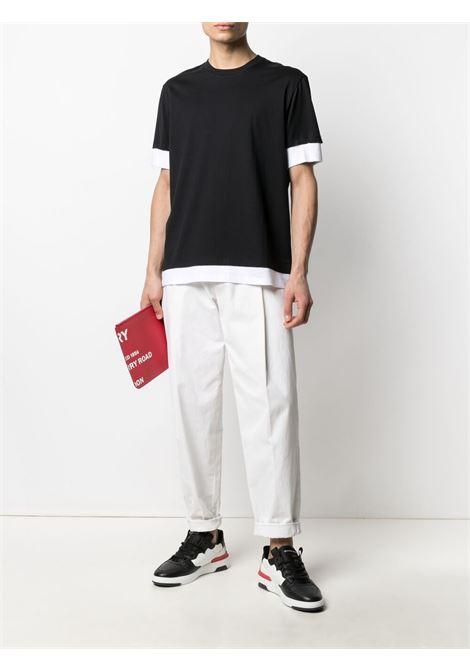 Two-tone T-shirt NEIL BARRETT | PBJT907Q518S2866