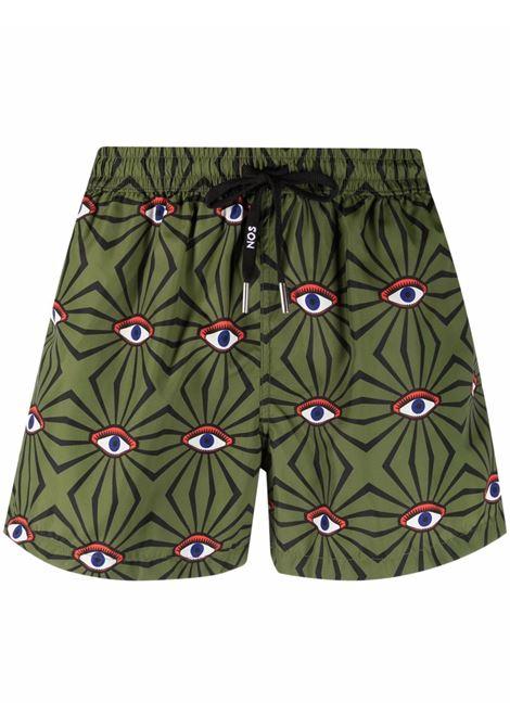 Eye-print swimming shorts men  NOS | Swimwear | NB21101V1