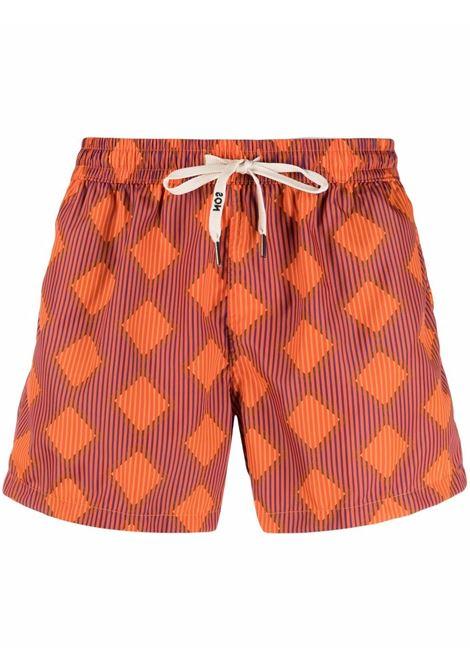 Nos diamond-print swim shorts men fantasia   NOS | Swimwear | NB21105V2