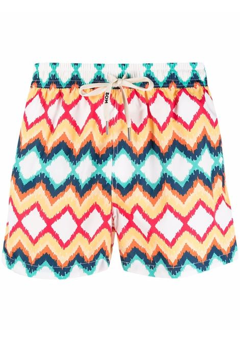 Nos diamond-print swim shorts men fantasia   NOS | Swimwear | NB21120V1