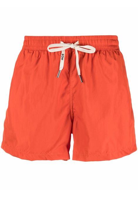 Nos logo swim shorts men arancio NOS | Swimwear | NB21UNITO26