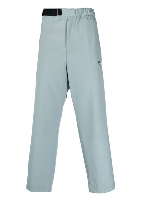 Oamc belted trousers slate blue OAMC | Trousers | OAMS310633OS200100012