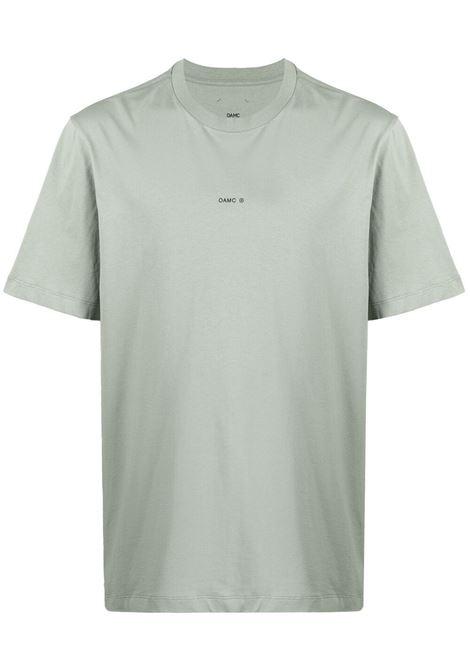 Oamc t-shirt con logo cadet green OAMC | T-shirt | OAMS708667OS247908B302