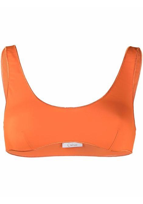 Embroidered-edge bikini top orange - women  OSÉREE | BSF213ORNG