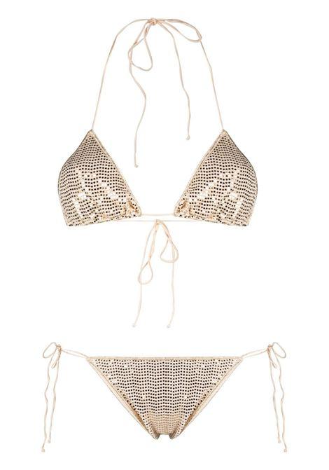 Sequin-embellished bikini OSÉREE | Swimwear | DTS216GLD