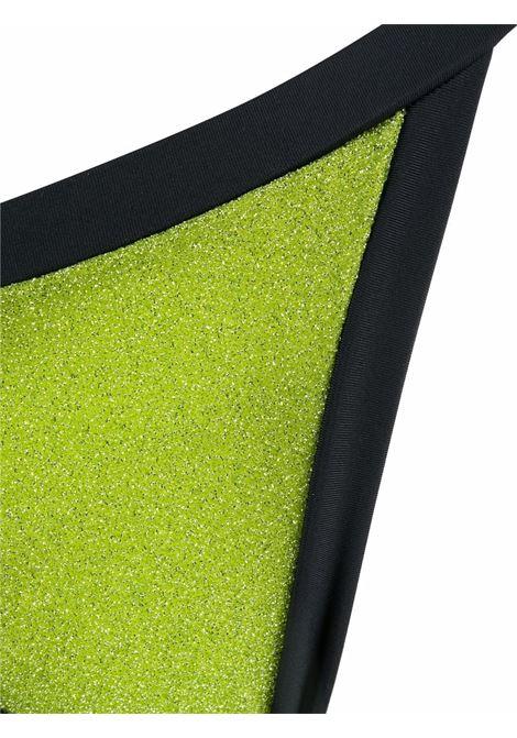 Triangle lurex bikini set lime green and black - women  OSÉREE | ELF213LM