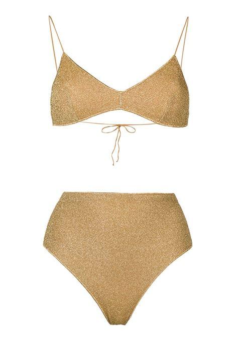 Lumiére lurex bikini set OSÉREE | Swimwear | LMS803GLD