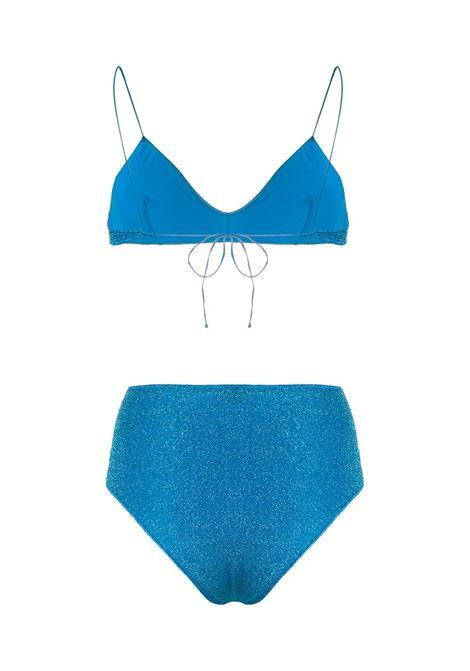 High-waisted lumière bikini ocean blue - women  OSÉREE | LMS803OCNBL